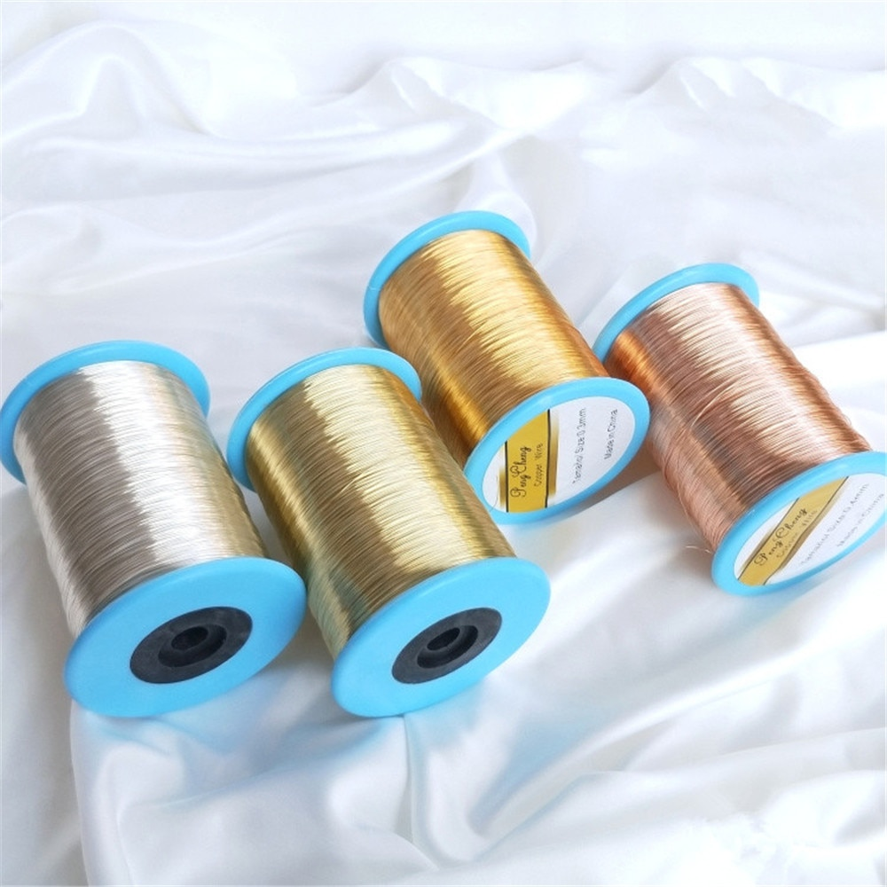 14K Gold Filled Copper wire gold silver 1 kg Big drum sufficient modelling soft copper wire diy jewelry winding material