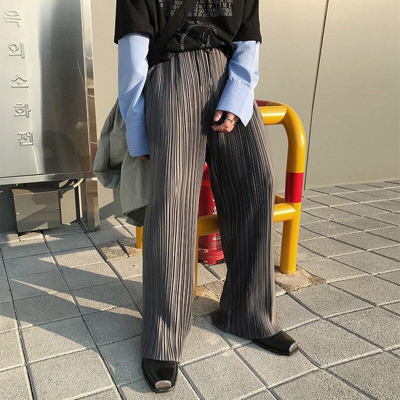 Pantalones rectos holgados informales a rayas para hombres y mujeres, ropa de calle para parejas, pantalones largos de pierna ancha a la moda Estilo Vintage Hip Hop