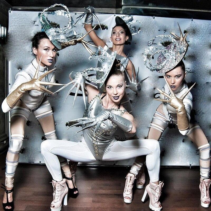 الراقية مخصص بار Gogo زي المرأة مثير بذلة ملهى ليلي بار قطعة واحدة مهرجان الملابس سحب الملكة ازياء DQS7680