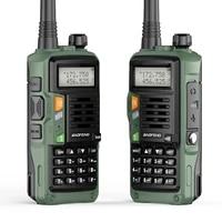 2021 new 2pcs baofeng uv s9 plus 136 174mhz vhf 400 520mhz uhf 10w dual band two way radio original support usb charging hunt