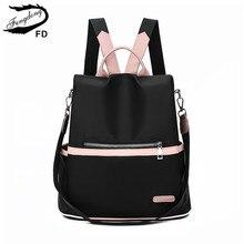 FengDong girsl cute small backpack female fashion anti theft backpack waterproof oxford  travel backpack schoolbag girl bag gift