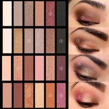 6 cores sombra esfumaçado paleta de sombra alta pigmento pó de seda maquiagem pallete 88