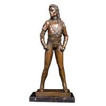 ArtsHom DS-149 Berühmte Musik Mann Jackson Statue Skulptur Bronze Sänger Jackson Figuren Kunst Für Sammlung
