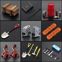 Аксессуары масштаб 1:10, инструмент для имитации украшений, лопатка, канистра, огнетушитель, масляный барабан для RC Crawler TRX4 SCX10, мини-игрушка