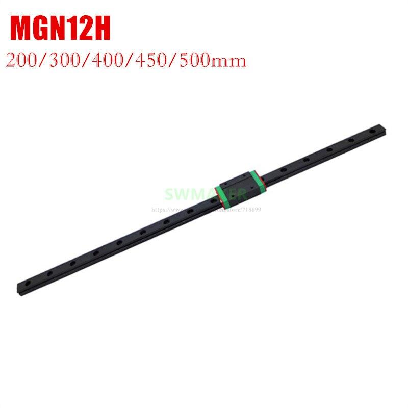 أسود MGN12H دليل خطي و 300 مللي متر 350 مللي متر 400 مللي متر 450 مللي متر 500 مللي متر خطي القضبان ل Ender-3 ، Anycubic I3 ميجا ، BLV MGN مكعب 3d طابعة