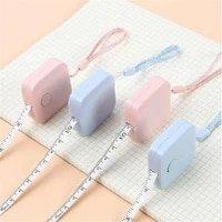 small square ruler mini tape with hanging rope for measuring height and weight measuring tools