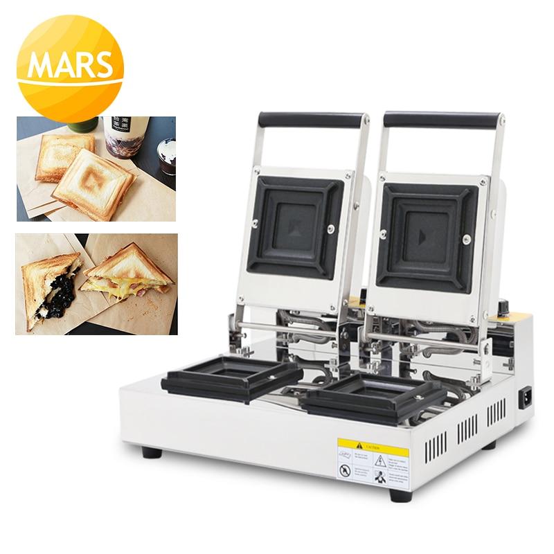 Fabricante de sanduíche elétrico quente pressionando caixa de torradas bolso pão bolo grill não-vara pan waffle torradeira bolo máquina de café da manhã 220 v
