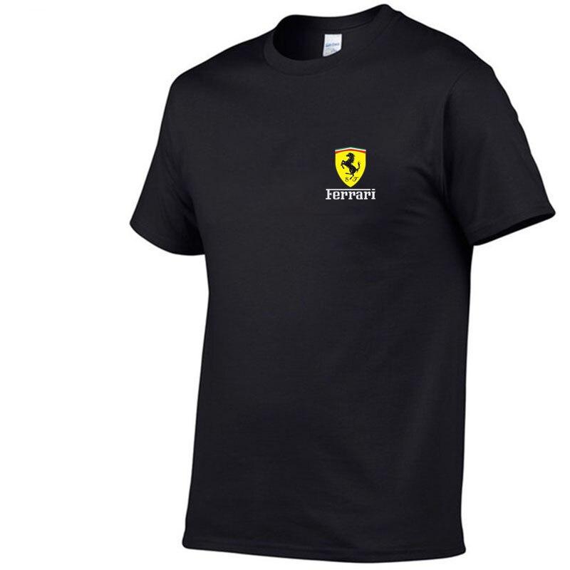 Ferrari-Camiseta de manga corta para hombre y mujer de Camisa estampada 3D...