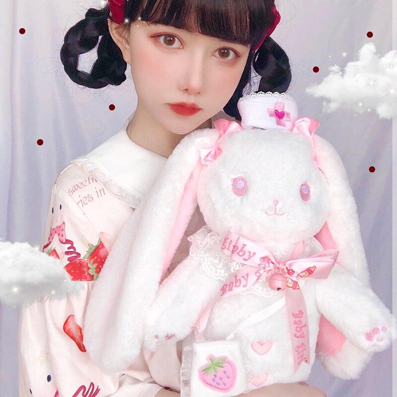 Japonês ita saco kawaii coelho bolsa doce bowknot anime mochila de pelúcia kawaii saco do mensageiro lolita bolsa de ombro anime sacos cos