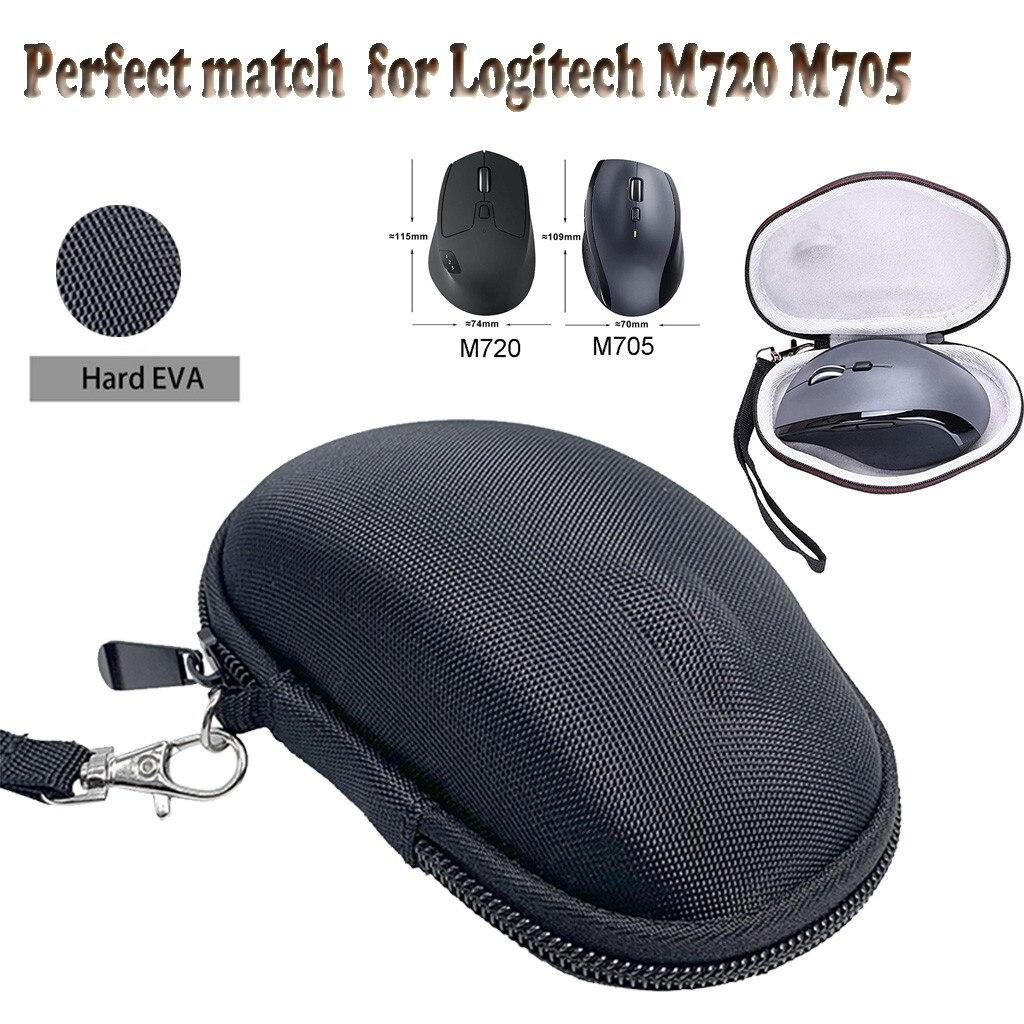 Para Logitech M720 M705 funda de transporte rígida de triatlón para Logitech M720 M705 funda de ratón inalámbrica multidispositivo de Triatlón