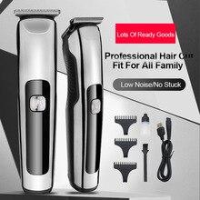 Barber Haircut Sculpture Cutter Rechargeable Razor Trimmer Adjustable Cordless Edge for Men Professi