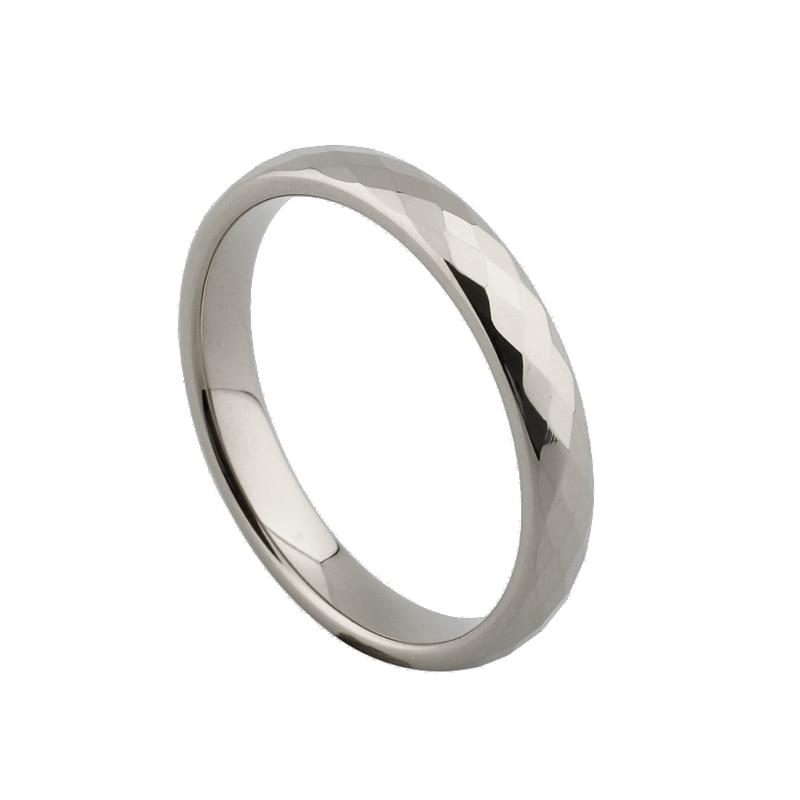 Оптовая продажа тонкий 4 мм Ромбовидные серебряные свадебные кольца из карбида вольфрама для мужчин и женщин