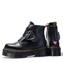 Martens Boots Love Paten Zip Soft Leather Shiny leather Martin Boots Women Doctor Boots Men Women An