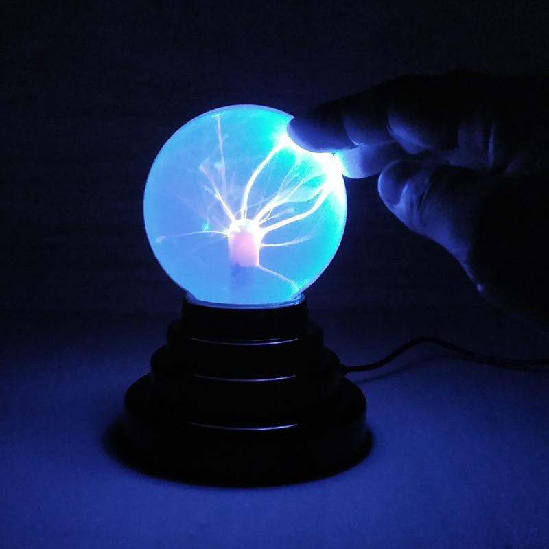 Caja de lámpara de bola de Plasma Lava, luz nocturna mágica Retro de 3 pulgadas para niños, fiesta de Navidad, regalo de Cristal, decoración de habitación, USB