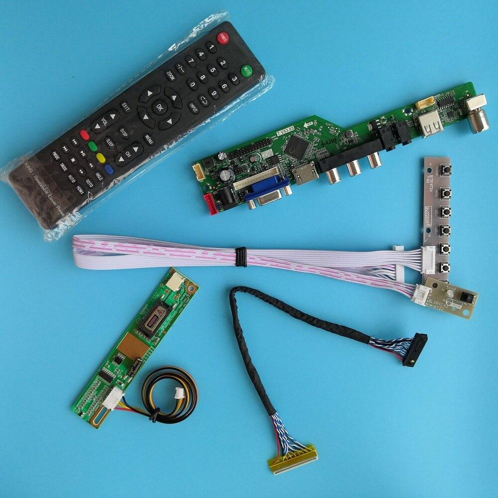 """Para LTN150XG-L05 30pin AV USB Resolución de señal Digital módulo de interfaz de TV VGA HDMI 1 lámparas 15 """"tarjeta de controlador 1024X768"""