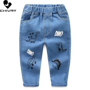 New 2020 Kids Fashion Cartoon Dinosaur Jeans Trousers Pants Boys Denim Pants Baby Jeans Autumn Winter Clothing for 2-8 Years