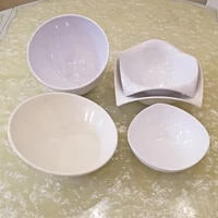 a5 melamine dinnerware white hot pot seasoning bowl restaurant big square bowl environmental protection tableware soup bowl