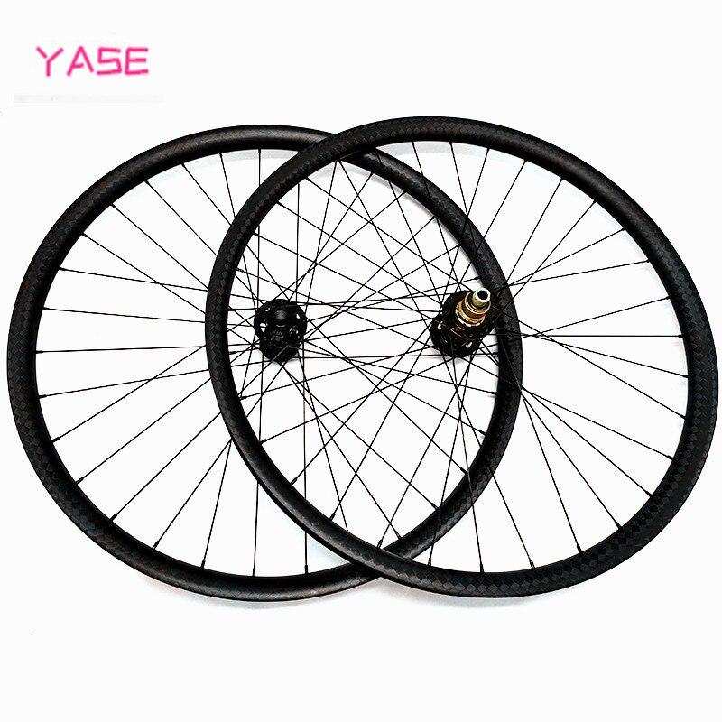 27.5er bicicleta de montaña MTB ruedas x 33x30mm estoy sin ganchos impulso Centro BITEX R211 de carbono rueda de disco обод колеса велосипеда