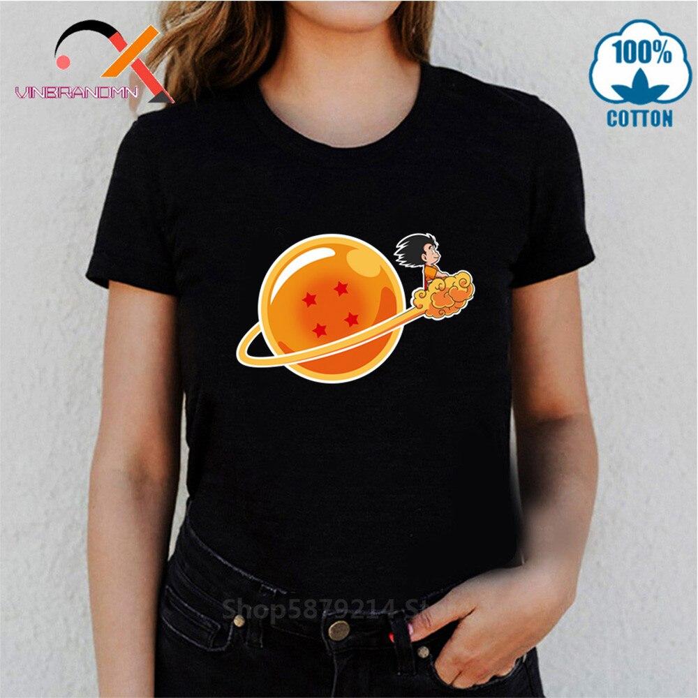 Novedosa camiseta de Dragon Ball de 4 estrellas para mujer, camiseta de Super Saiyan Dragonball Z Dbz Son Goku, camiseta cápsula, camiseta de Vegeta para chicas, Tops