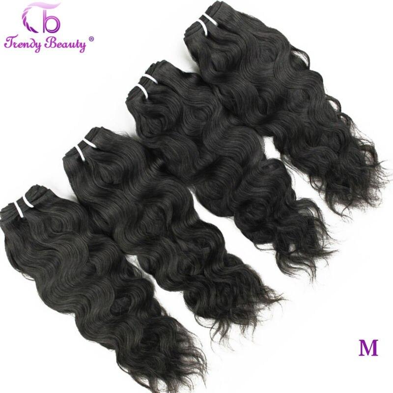 Trendy Schönheit Haar Brasilianische Natürliche Welle 4 Pcs Pro Los Natürliche Schwarze Farbe 8- 30 Zoll Kann Gefärbt Werden nicht-Remy Haar Extensions
