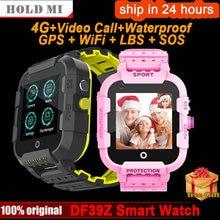 DF39 Smart Uhr Kinder 4G GPS Tracker IP67 Wasserdichte Video Call Kamera GPS LBS WIFI Lage Smartwatch Kinder 4g Smartwatch Smart Watches    -