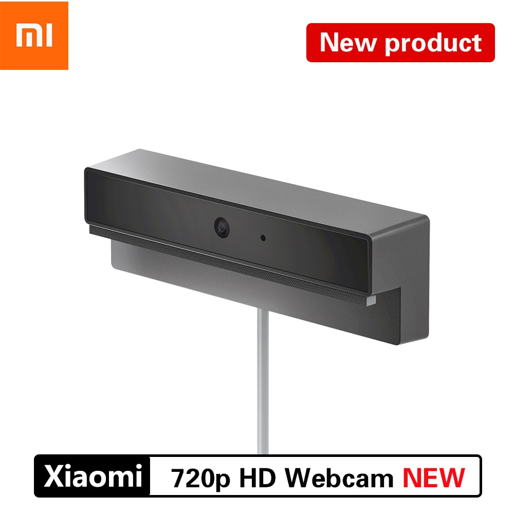 2020 xiaomi mi hd webcam 720p hd resolução usb2.0 câmera de vídeo inteligente transmissão ao vivo compatível com o sistema operacional mainstream