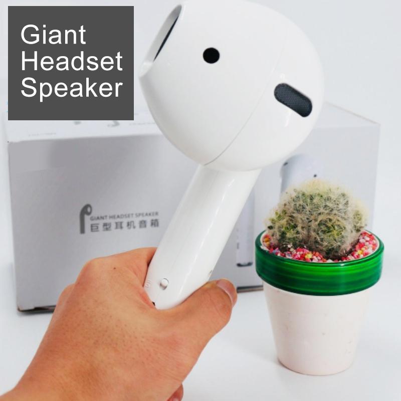 Altavoz Portátil con Bluetooth para aire libre, altavoz inalámbrico con forma de auricular para AirPods
