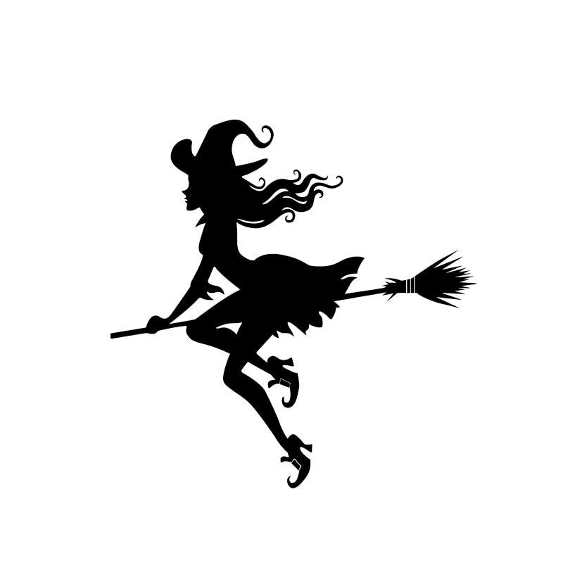 Dawasaru Bösen Hexe Fliegen In Den Himmel Mädchen Auto Aufkleber Wasserdicht Personalisierte Aufkleber Motorräder Auto Dekoration PVC,13cm * 13cm