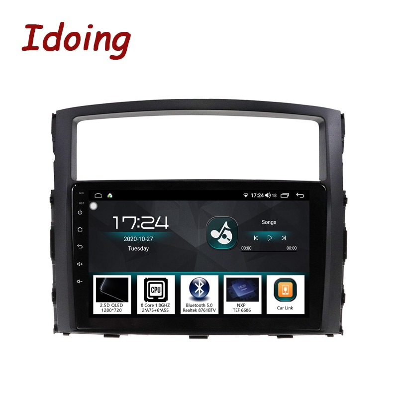 Idoing-راديو السيارة Android ، نظام الملاحة GPS ، مشغل الوسائط ، للسيارة MITSUBISHI PAJERO V97 93 (2006-2012)