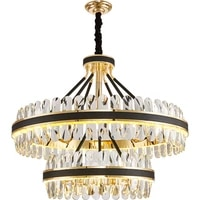 2020 new luxury crystal pendant lights nordic dimmable romantic hotel villa foyer dinging room leather decoration hanging lamp