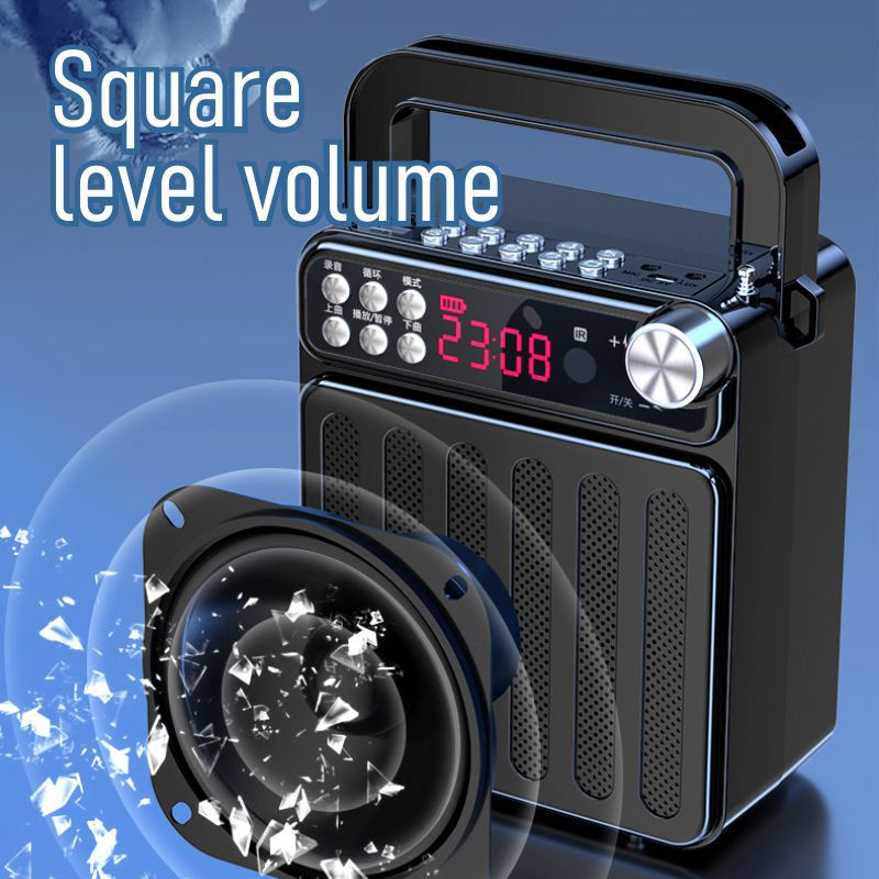 Bluetooth Radio Voice Prompt Card Remote Control Hand Square Dance Speaker Wireless Microphone Guide Megaphone enlarge