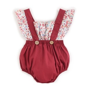 One Piece New Born Girl Rompers Little Flower Baby Jumpsuit  Cotton Newborn Toddlers 4 Colors Available Kids Clothes Girl Outfit