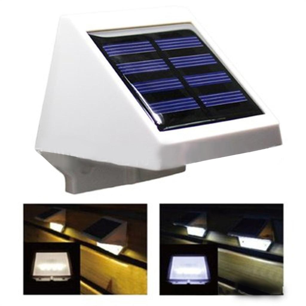 Bombilla Solar de 4LED para exteriores, lámpara de jardín y jardín, lámpara impermeable de seguridad nocturna, luz de pared brillante inalámbrica
