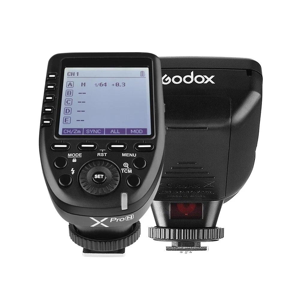 Godox Xpro-N XproN i-TTL فلاش الزناد الارسال 2.4G اللاسلكية X نظام تلقايئ 1/8000s ل HSS نيكون كاميرات استوديو ومضات