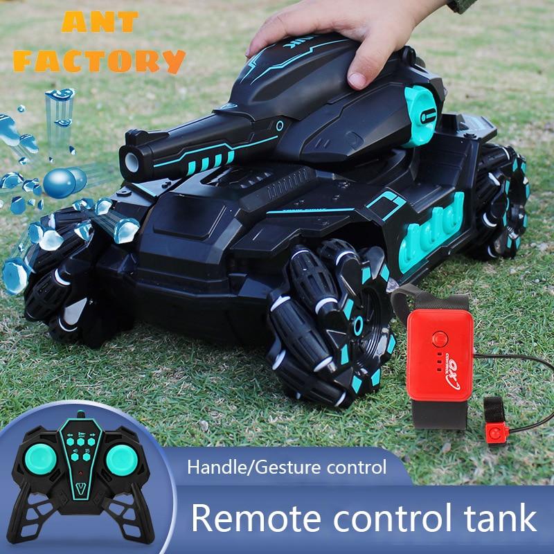 2.4G rc سيارات لعب للأطفال دبابة مع جهاز للتحكم عن بُعد يمكن اطلاق النار القنابل المائية 1:16 النمر خزان التحكم اللاسلكي خزانات r/u