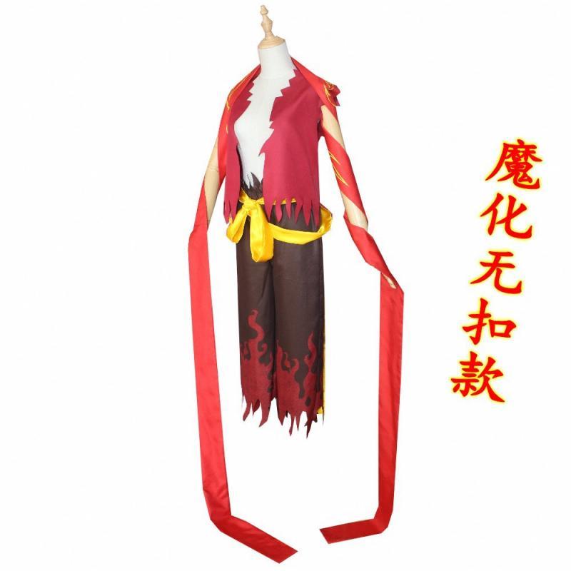 Personajes míticos chinos NE ZHA Cos pantalones Top cinturón arma conjunto NE ZHAI Am The Destiny Cosplay disfraz Halloween Cosplay