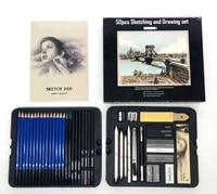 50pcs sketching pencils set professional drawing wood pencil kit for school students painting tool art supplies painter gift