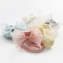 newborn infant non-slip socks toddler girls lace sock kids childish bow cotton cute short anti slip ankle socks baby accessories