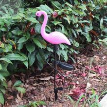 Solar Powered Flamingo Stake LED Light Waterproof Pathway Garden Lawn Yard Lamp