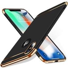 Luxe 3 en 1 Étui pour iPhone 7 8 Plus 6s 5s SE X Couverture Arrière Dekking verwijderbare 3 en 1 Fundas pour iPhone X XS XR 11PROMAX