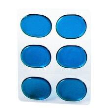 6 قطعة/المجموعة كمين طبل البكم سادة المثبط سادة صغيرة كمين كاتم الصوت شفافة الأزرق البني اختياري قرع أداة اكسسوارات