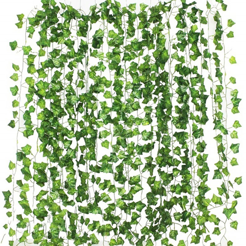 2.2-2.4m Artificial Leave Garland Fake Green Leaf Ivy Vine Artificial Plant Wall Hanging Garland Wed
