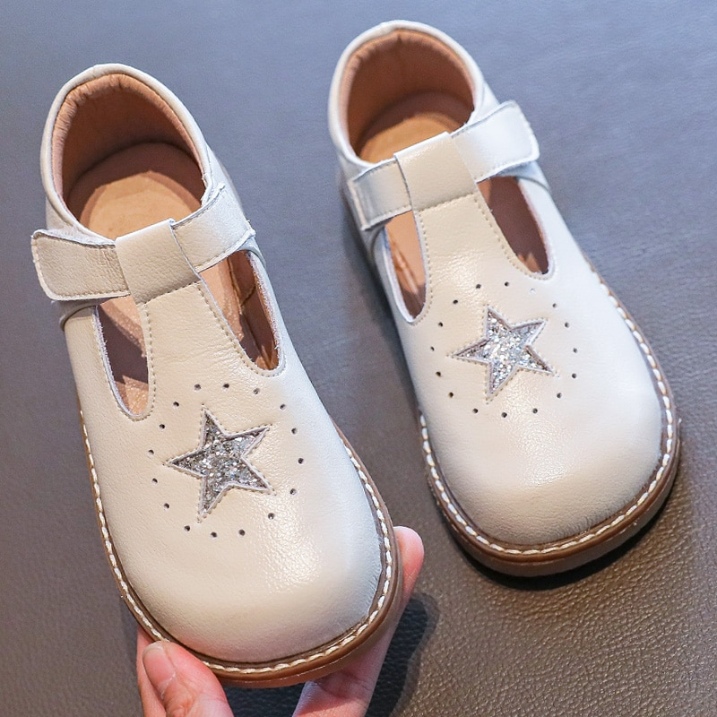 Kids Shoes Princess Shoes 4-12 Years Girls' Shoes Soft Bottom Leather Air Princess 2020 New Autumn Baby Shoes