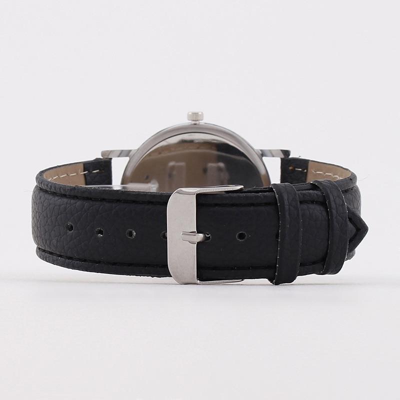 MREURIO Luxury Men's Watch Minimalist Ultra Thin Stylish Leather Quartz Men Wristwatches Big Fashion Dial Masculine Male Clock enlarge