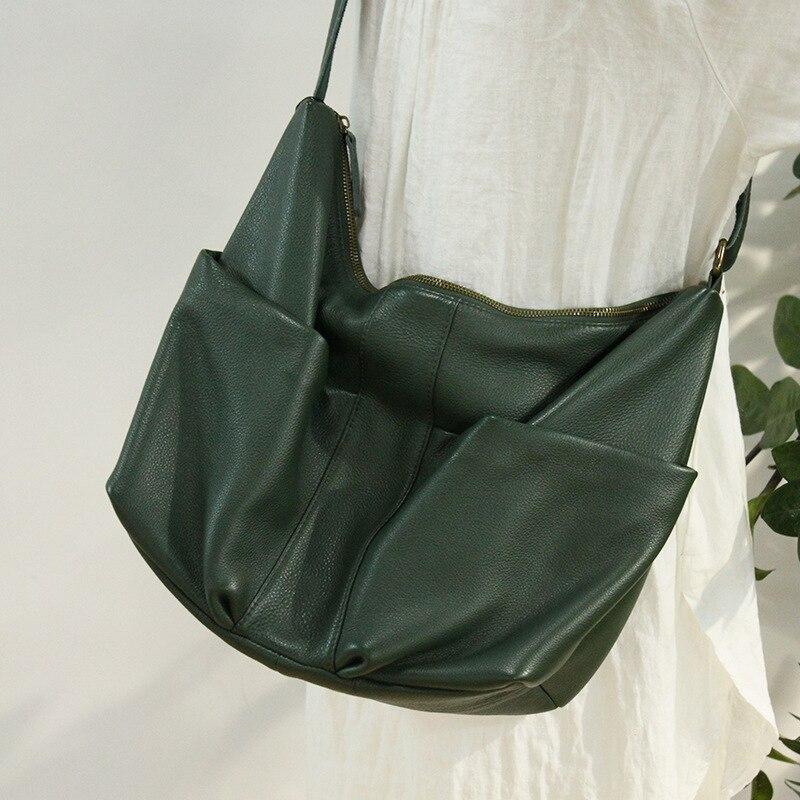 ميسول-حقائب يد نسائية من الجلد الطبيعي الناعم ، حقيبة حمل مصممة ، حقيبة كتف غير رسمية ذات سعة كبيرة
