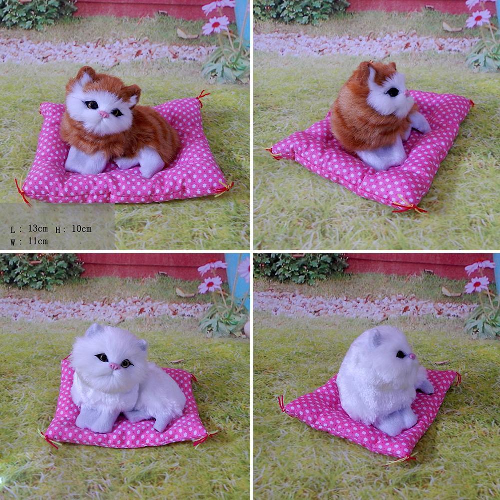 Adorable Artificial Simulation Sounding Shoe Kittens Doll Cats Plush Toys Kids Appease Christmas Bir