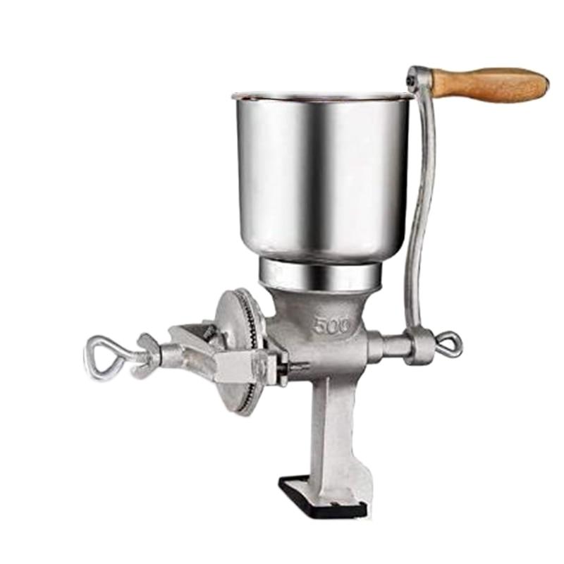 مطحنة حبوب يدوية من الفولاذ المقاوم للصدأ ، أداة طحن للمطبخ والقهوة والذرة والأرز وفول الصويا