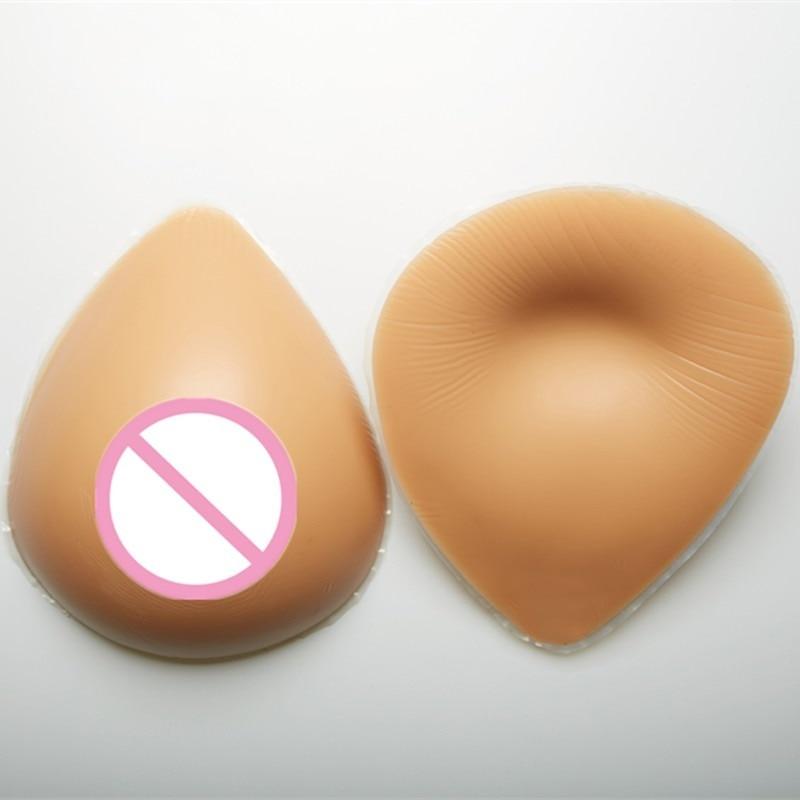 Forma de Mama Forma de cd Bege Silicone Transexual Shemale Crossdresser Peito Muito Macio 1600g