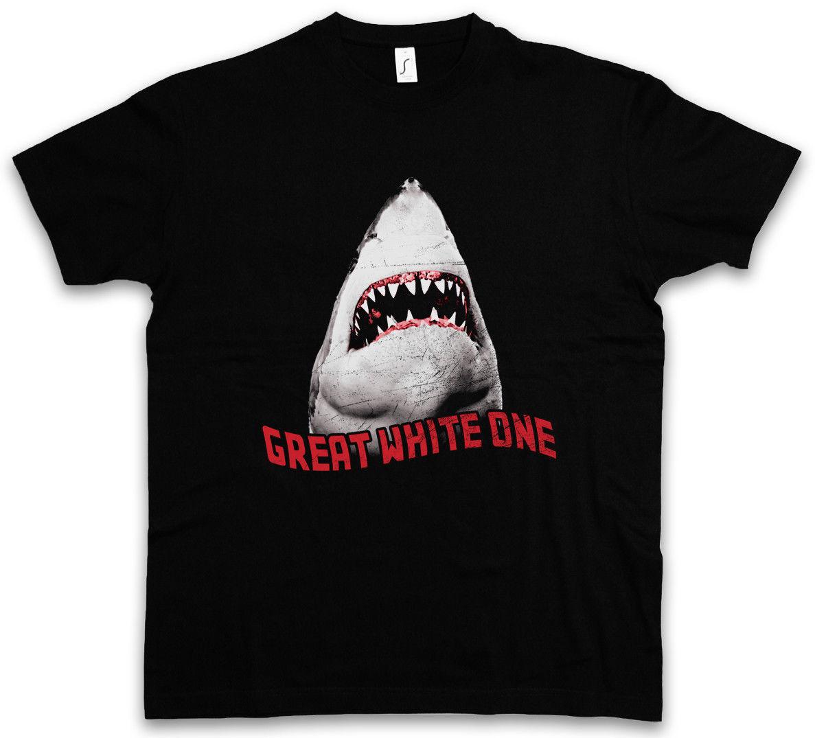 Tiburón Blanco II camiseta tiburón surfista buzo Hawai ataque monstruo gigante asesino camiseta hombres camiseta marca ropa divertida camiseta
