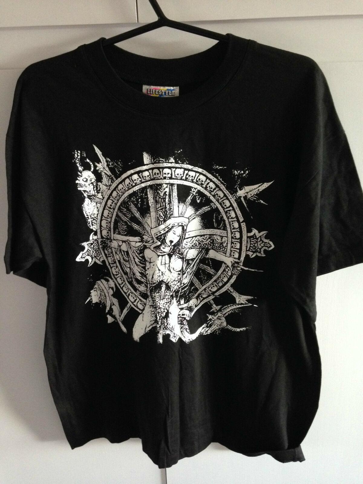 "Expurgate, camiseta a estrenar con estampado de ""Mortality Rape The putter"", talla L"
